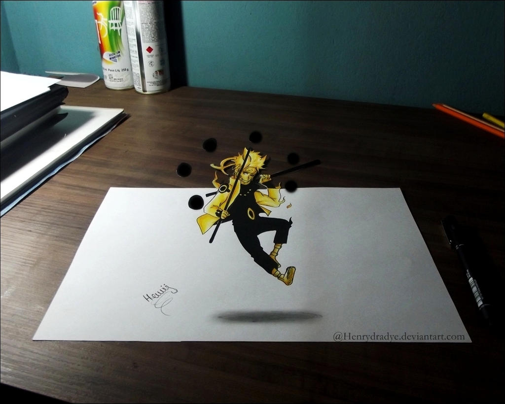 how to draw naruto 3d