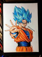 Goku Blue Ssj by HenryDradye