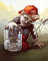 Li'l Airhead tadpoling by milandare