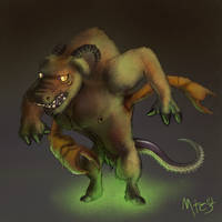 Zombie Minotaur Chimera by Marcotonio-desu
