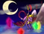 Spyro the Dragon-Night Flight by pikachu-25