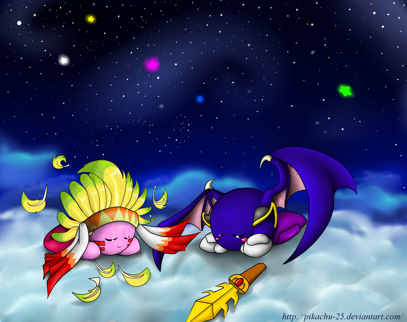 Kirby and Meta Knight - Flying Dreams by pikachu-25