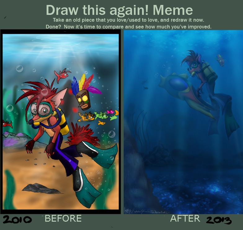 Draw this again 2010 vs 2013 by pikachu-25