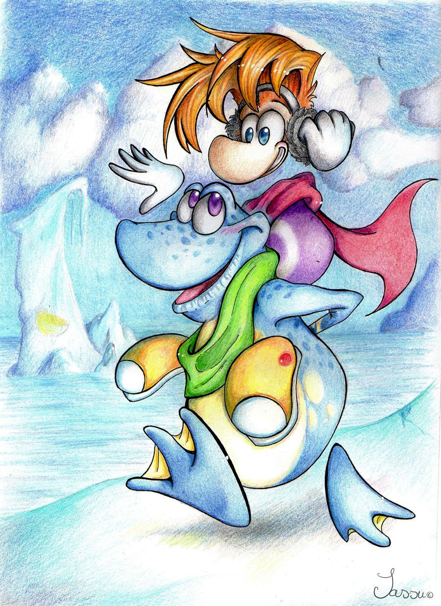 Rayman - Dashing Thru the Snow by pikachu-25