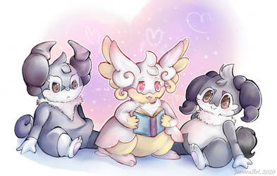 Pokemon - Audino and Indeedee (Valentine's Day)