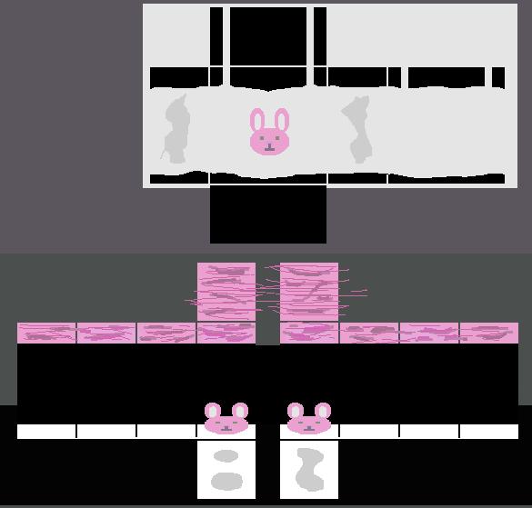 Cute Roblox Template Girl Shirt Girl S Bunny Pajamas Pink By Iimadrbx On Deviantart