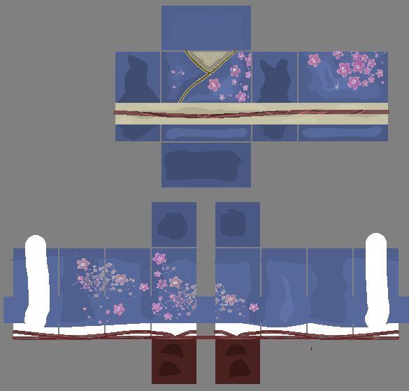 Blue Patterned Kimono Pants By Iimadrbx On Deviantart