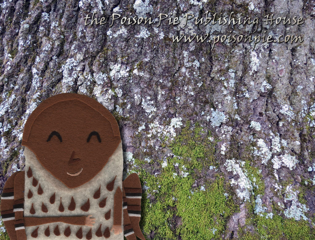 Brown Trasher Faerie w/ Base of Tree Trunk by PoisonPiePublishing
