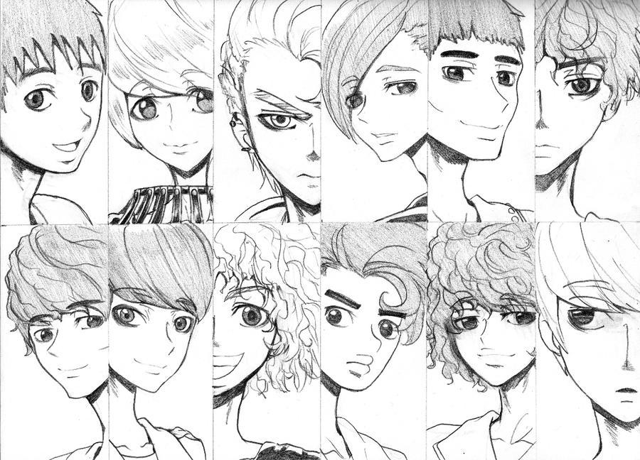 EXO Pencil Sketch By Labapo999 On DeviantArt