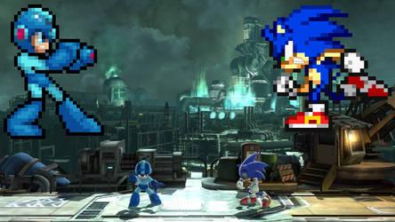 COM Scrapped: Sonic VS Mega Man by TheTodStar