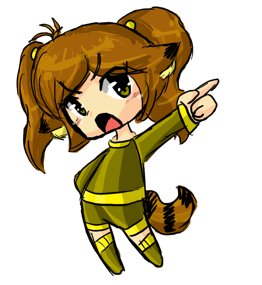 Chibi Angry Raccoon by Rumay-Chian on DeviantArt