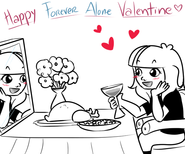 Feliz foreveralone san valentin! by Rumay-Chian