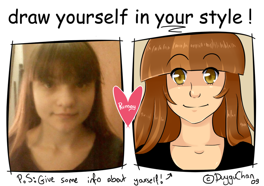 Draw urself in ur style meme 2.0 by Rumay-Chian