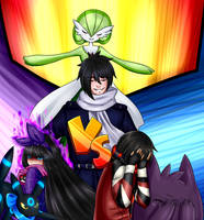 [AA] Triple pelea - Alice vs Neo vs Zeth by Rumay-Chian