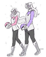 Walking together - lotura doodle by Rumay-Chian