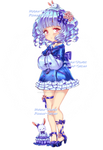 Adoptable auction| USAGI BLUE GIRL  / OPEN by Rumay-Chian
