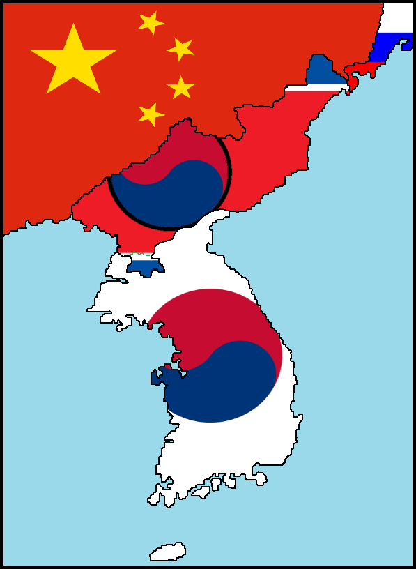 The second Korean War - the new borders by poklane