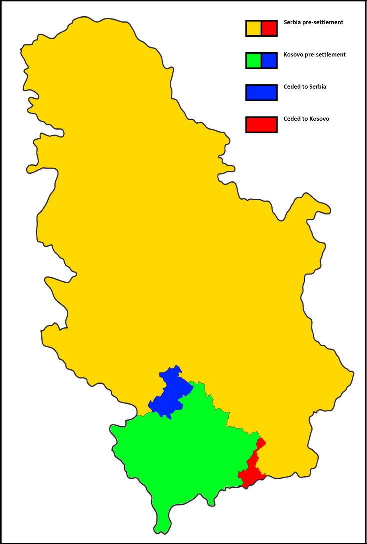 Serbia - Kosovo settlement by poklane