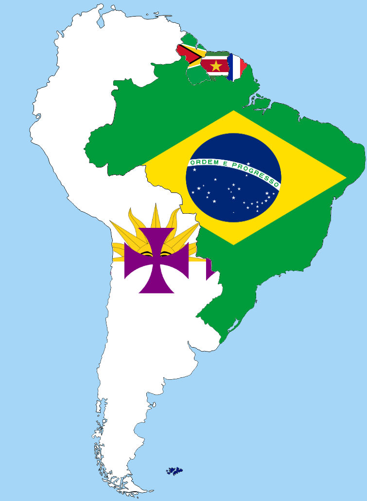South America: Spanish speaking countries united by poklane ...