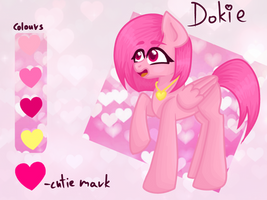 Dokie pony version ref sheet by TheRoseOfMay