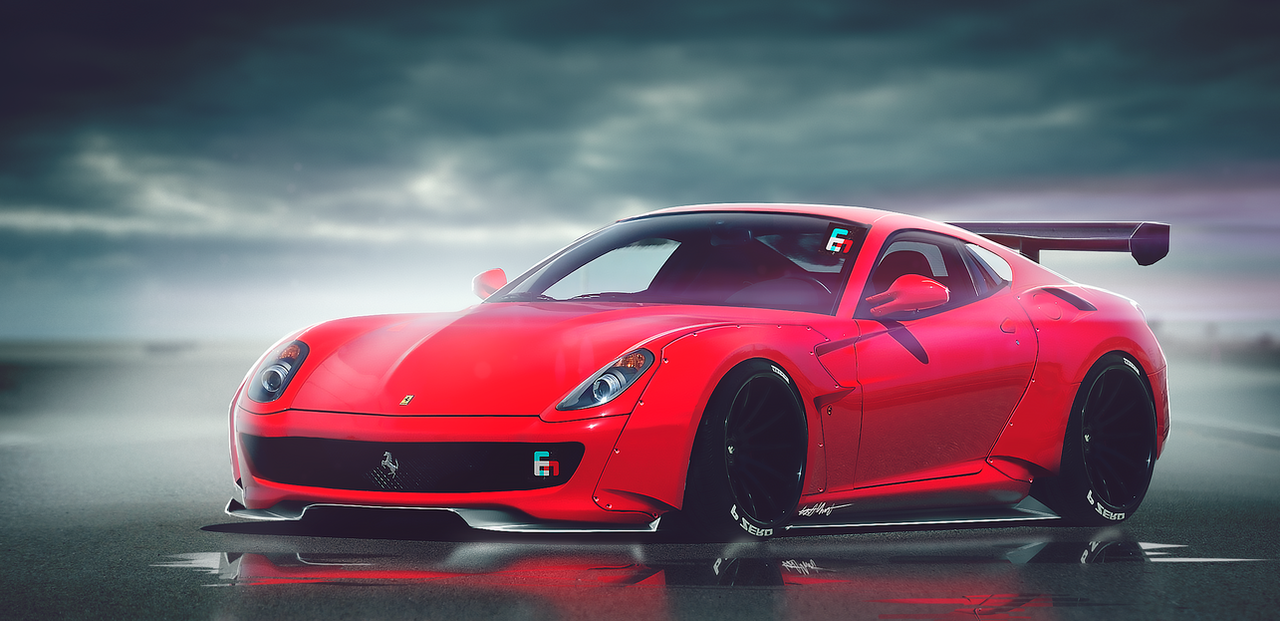 Ferrari 599 Gt Wide Body Kit By Whitesnake16 On Deviantart
