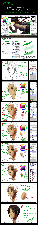 CJ's skin coloring tutorial by choco-java