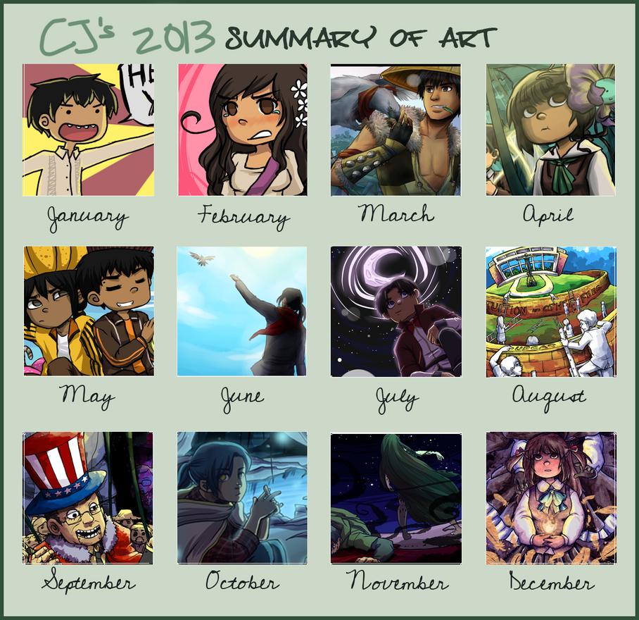 CJ's 2013 summary of art by choco-java