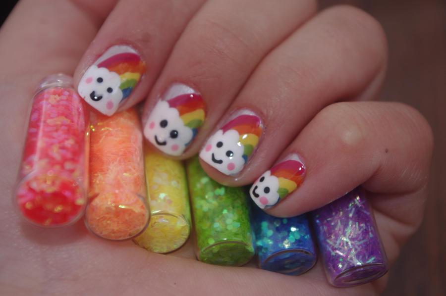 Rainbow Nails 2 By Solidadino On Deviantart