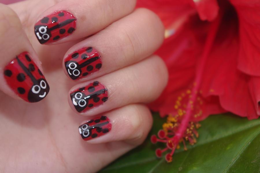 ladybug nails 2 by solidadino on DeviantArt