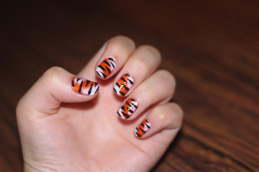 tiger nail art 3 by solidadino ... - Tiger Nail Art 3 By Solidadino On DeviantArt