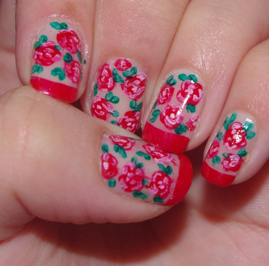 flowers nails 2 by solidadino on DeviantArt