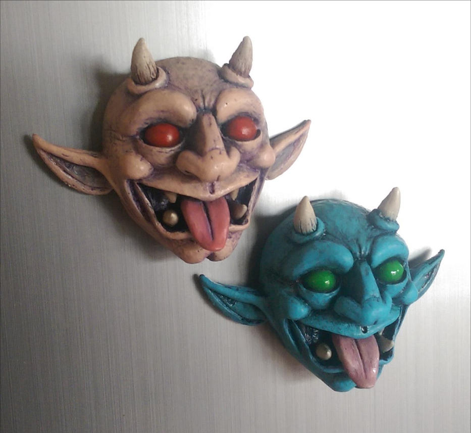 Grotesques - Fridge magnets V2 by 4thWallDesign