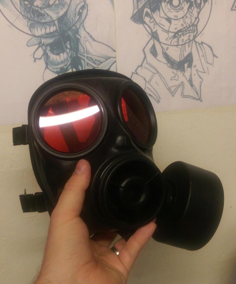 Umbrella Corp gas mask  by 4thWallDesign