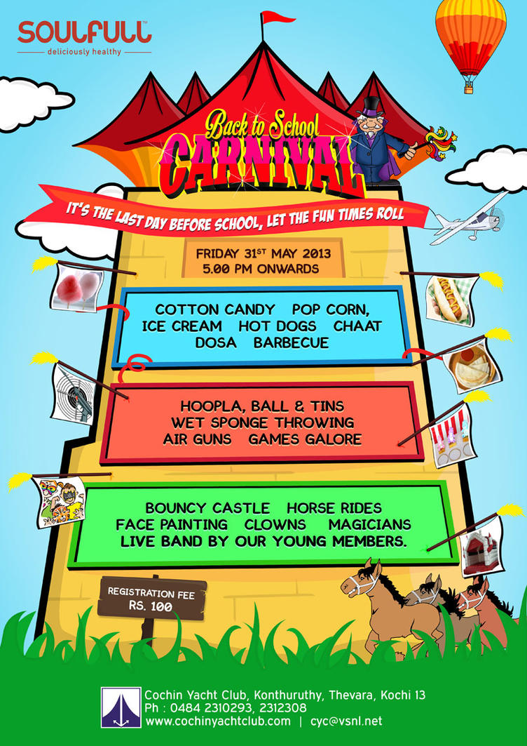 Back to school carnival flyer by jerrysequira on deviantart