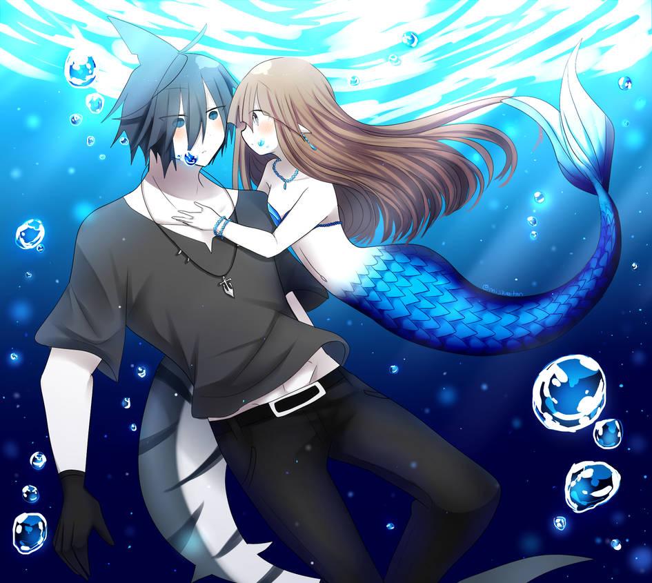 Mermaid wadanohara x samekichi