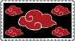 Akatsuki clouds stamp by coraza-de-acero