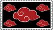 Akatsuki clouds stamp by coraza-de-acero