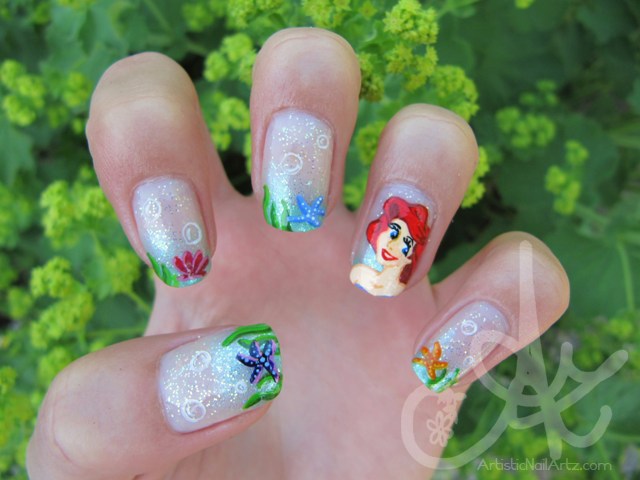 Little Mermaid Nail Art by zinajorna