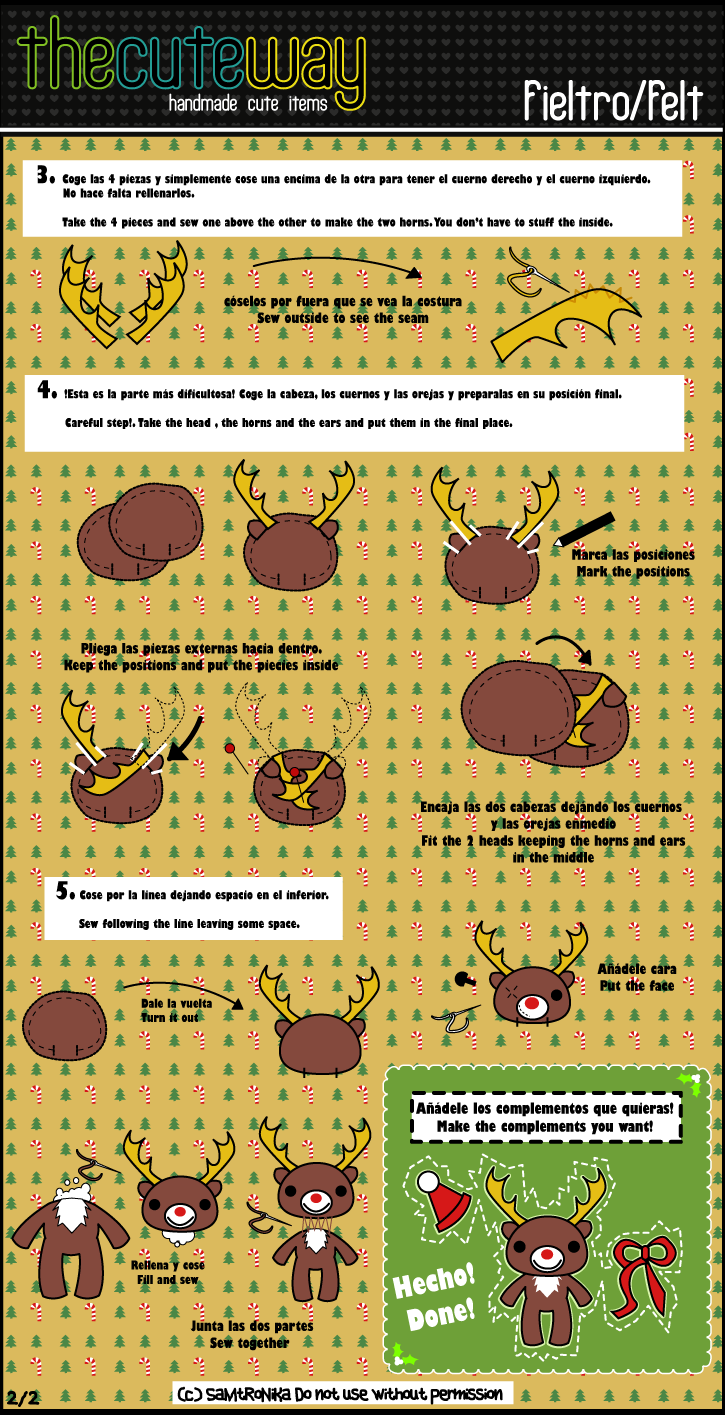 .:Reindeer plush tutorial:.2.2 by SaMtRoNiKa