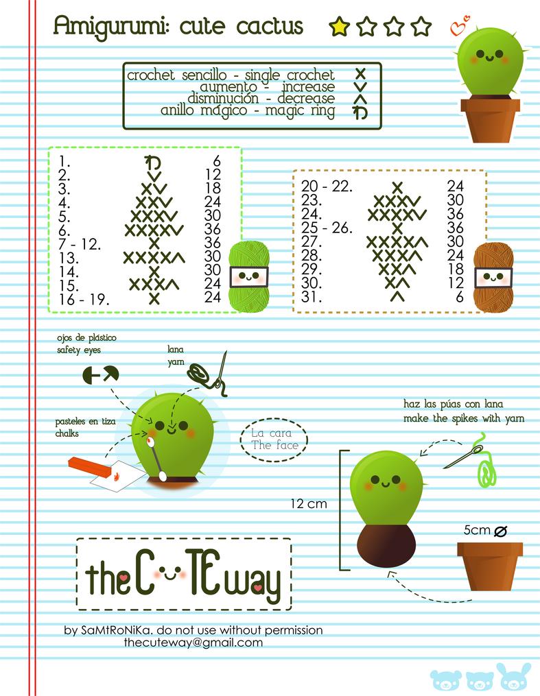 Kawaii cactus:. pattern by SaMtRoNiKa on DeviantArt