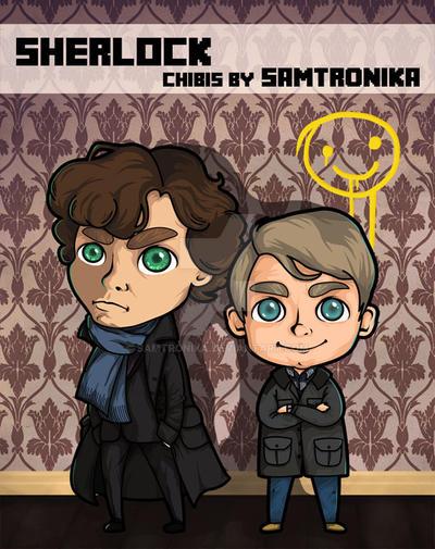 Sherlock and Watson (bbc) by SaMtRoNiKa