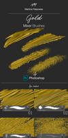 Gold Mixer Brushes_for Photshop