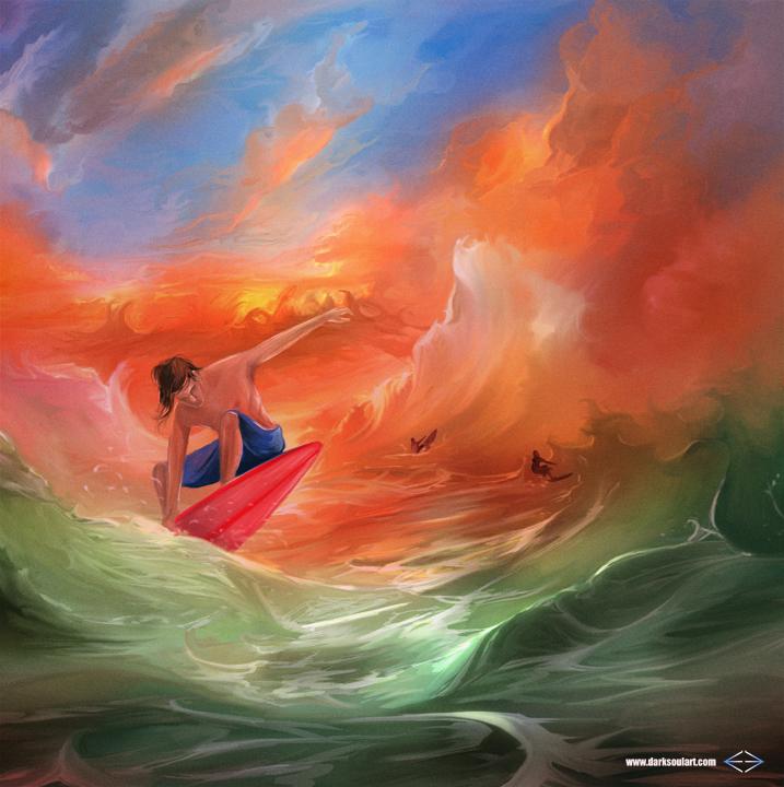 Surfer by darksoulart