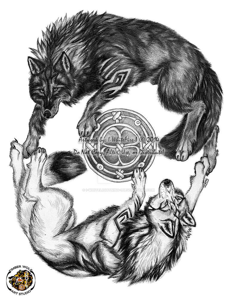 2440cfc1d546a Yin Yang Wolf Tattoo Design -SOLD- by I-WhiteLightning-I on DeviantArt