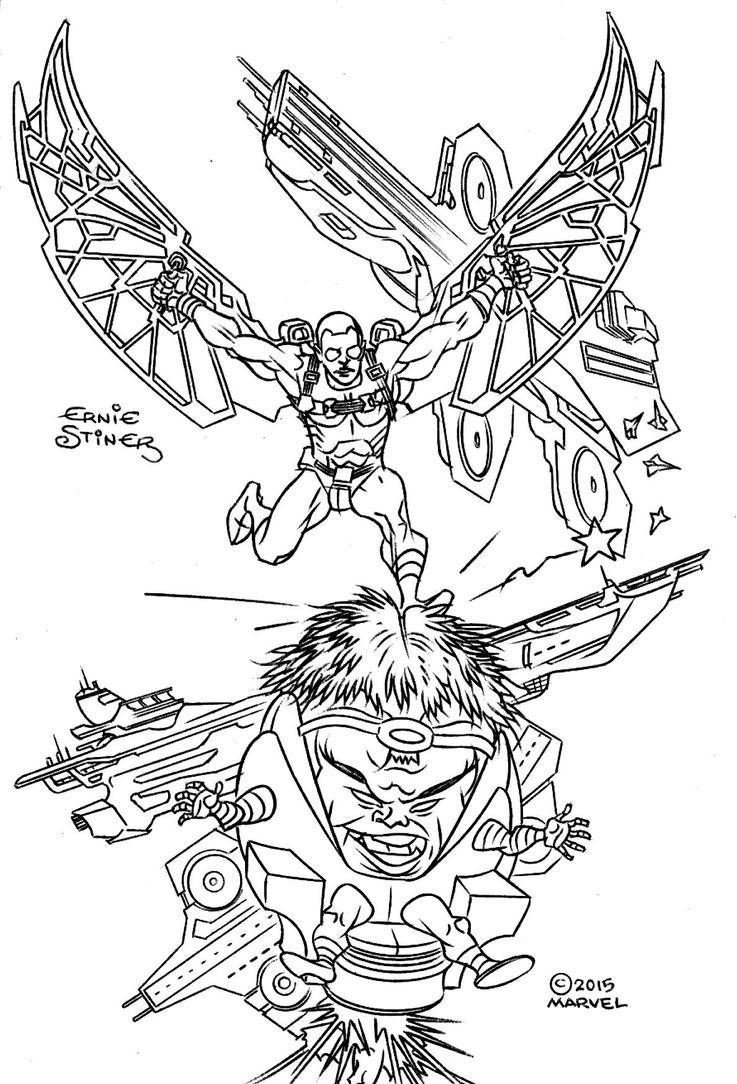 Falcon VS Modok by EJJS