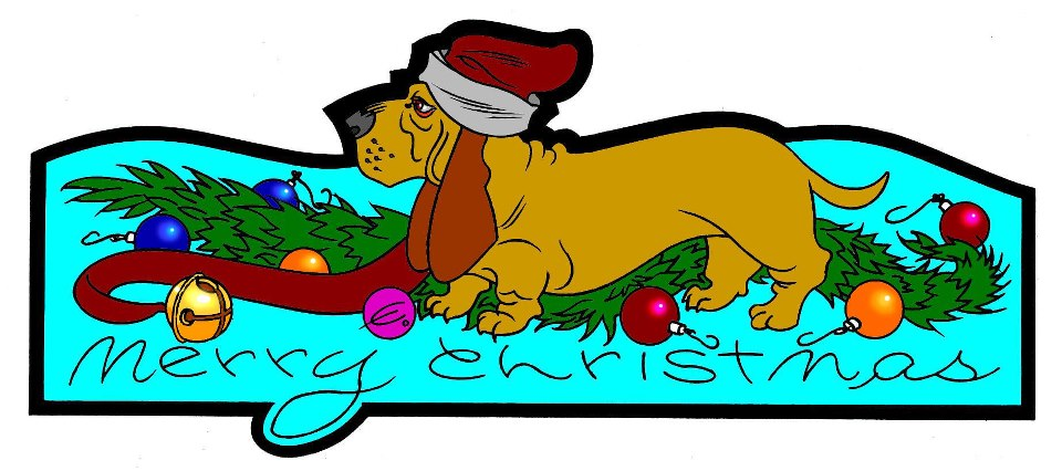 Merry Christmas Basset by EJJS