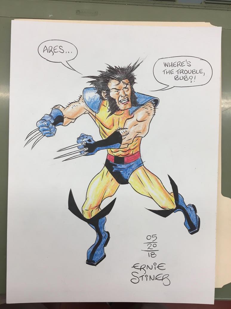 Wolverine 2018 3 Rivers Comicon sketch. by EJJS