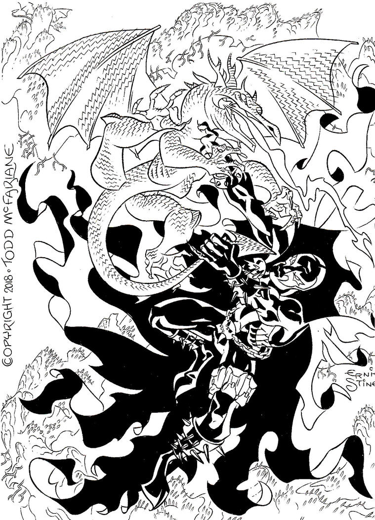 Spawn and the Dragon of Hell by EJJS