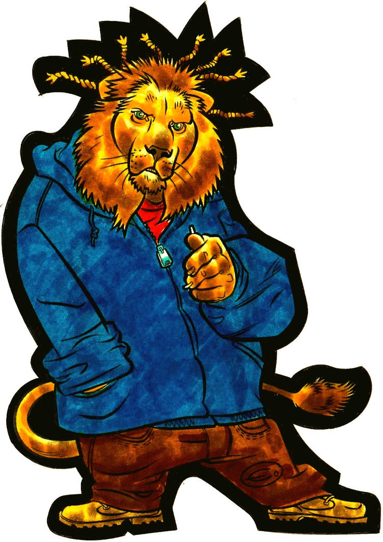 Hip Hop Lion by EJJS