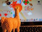 Computer Llama by herfeatsworld